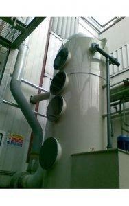 Zastosowanie 1: Wieża polipropylenowa zainstalowana do płukania LZO