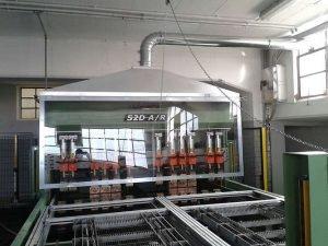 Cappa aspirante su area lavorazioni meccaniche