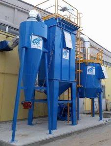Wielostopniowy system do filtracji pyłu i usuwania LZO