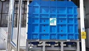 Regeneracyjny utleniacz termiczny do uzdatniania LZO wytwarzanych w produkcji materiałów ściernych