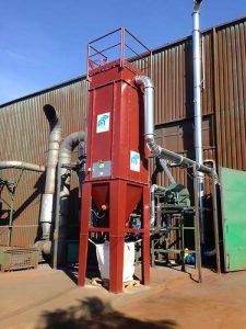 Zastosowanie 1: Filtr workowy ATEX do pyłu wybuchowego