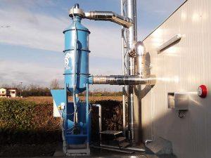 Mokry skruber do biomasy