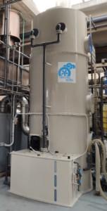 Płuczka mokra do redukcji oparów pochodzących z produkcji detergentów