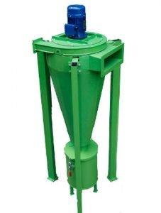 Separator pyłowy styczny dla kotłów na zrębki