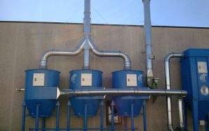 Zastosowanie 2: wielostopniowy system ATEX do zbierania pyłu i filtracji lotnych rozpuszczalników