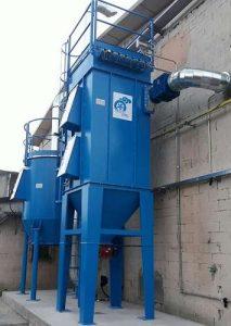 Zastosowanie 1: dwustopniowy system ATEX do filtracji pyłów i LZO