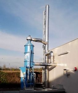 mokra filtracja emisji biomasy