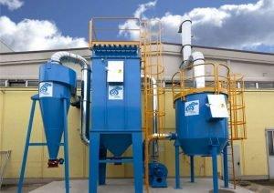 Aplikacja 1: wielostopniowy system ATEX do zbierania pyłu i filtracji LZO